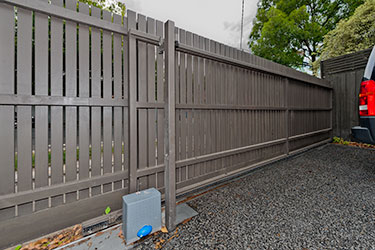 modern picket gate
