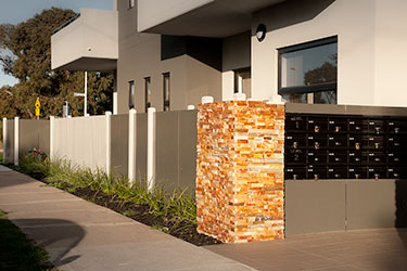 Modern fence design contemporary fencing horizontal boards modern fence entrance workwithnaturefo