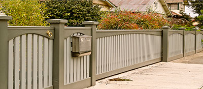 Picket and handrail fence banner