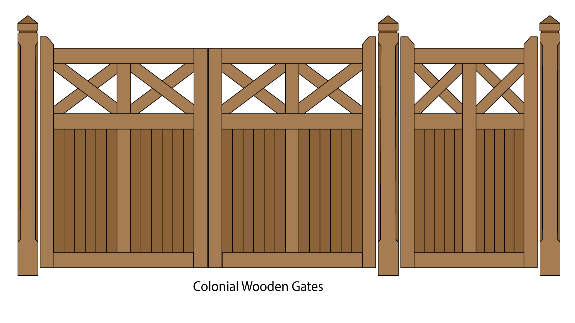 Colonial Feature Wooden Gates