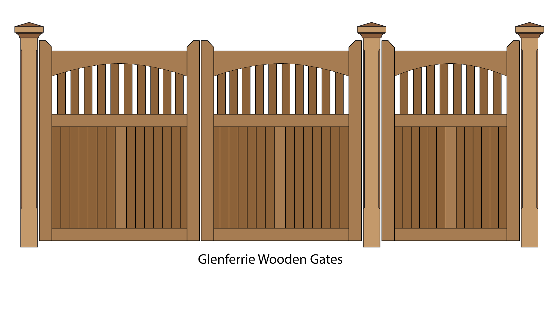 Glenferrie feature wooden pedestrian and driveway entrance gates can have automatic gate motors