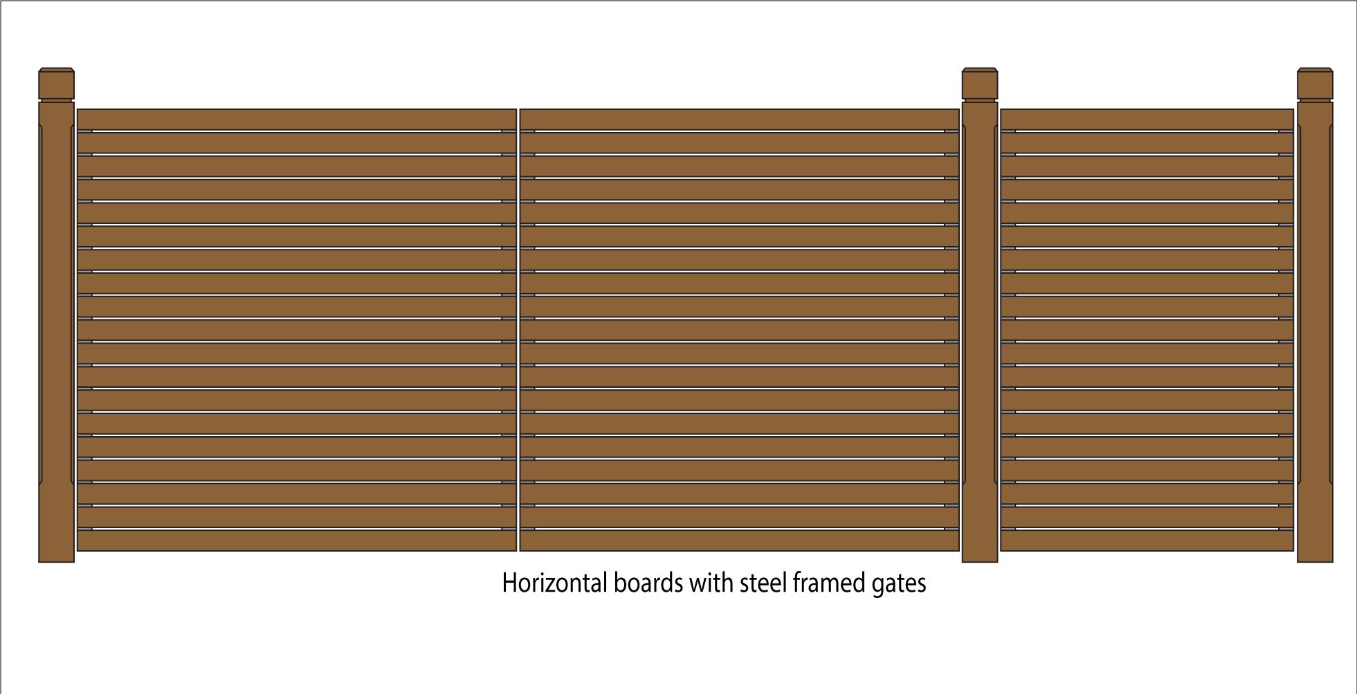 horizontal wood fence gate. Horizontal Boards On Steel Framed Gates Wood Fence Gate