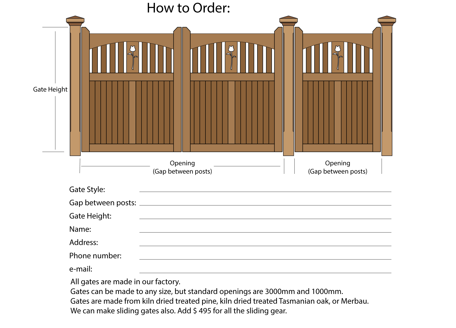 How to order wooden gates