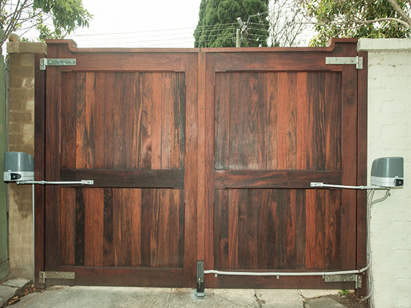 Automatic Gates Wooden