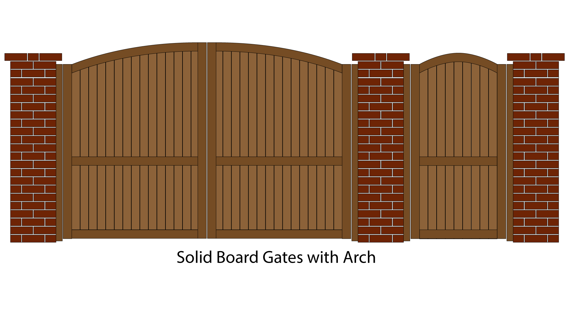 Solid Board Gates with Arch