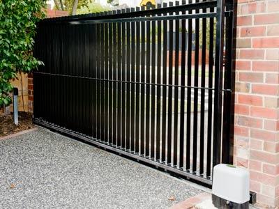solid metal fence. steel sliding gate solid metal fence